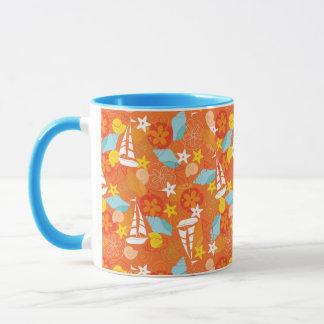 Tropical Sailboat Pattern Mug