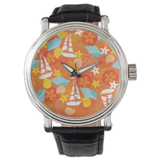 Tropical Sailboat Pattern Watches