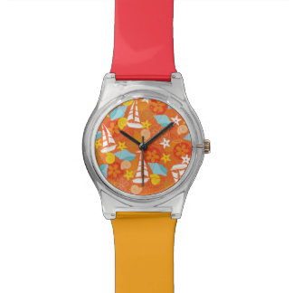 Tropical Sailboat Pattern Wrist Watches
