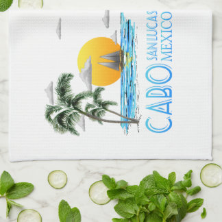 Tropical Sailing Cabo San Lucas Mexico Kitchen Towel