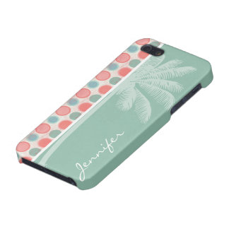 Tropical Salmon Coral Pink Seafoam iPhone 5 Covers