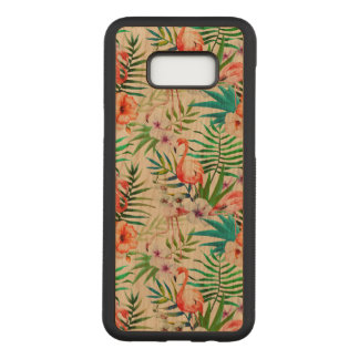Tropical Samsung Galaxy S8+ Cherry Wood Case