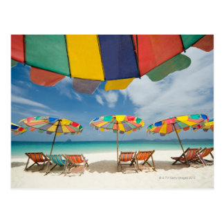 Tropical sand beach and turquoise sea. postcard