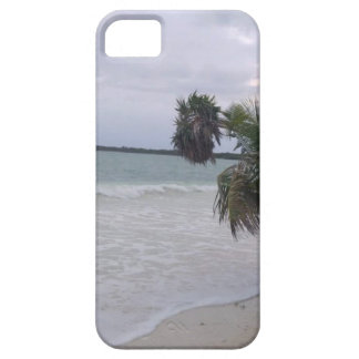Tropical Sandy Beach, Ocean Waves and Palm Trees iPhone 5 Cover