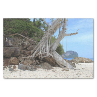 Tropical sandy beach tissue paper
