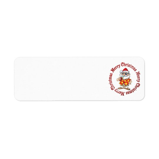 TROPICAL SANTA ADDRESS LABELS