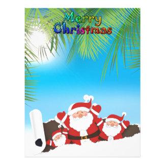 tropical Santa Letterhead