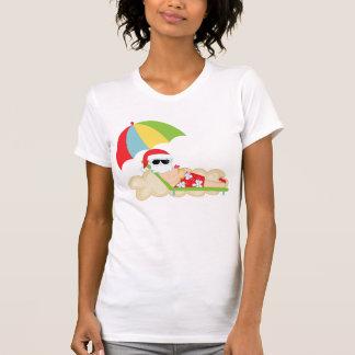 Tropical Santa on Beach T-Shirt