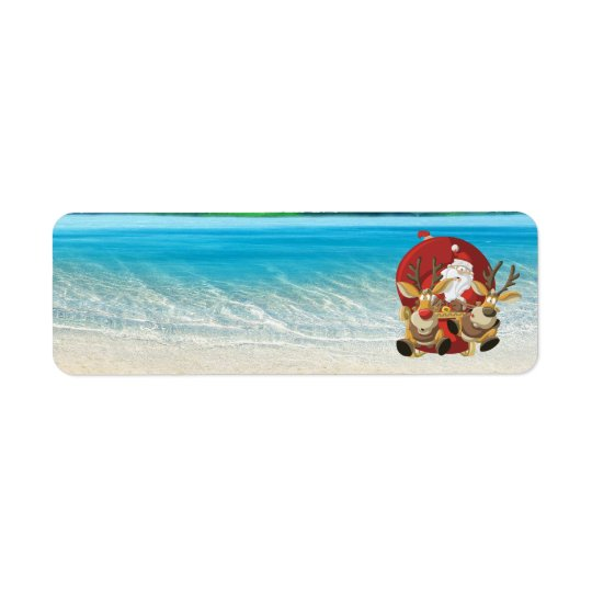tropical santa's wild ride address labels