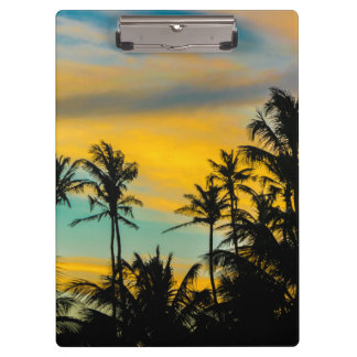 Tropical Scene at Sunset Time Clipboard