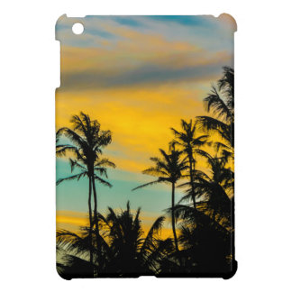 Tropical Scene at Sunset Time iPad Mini Covers