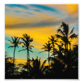 Tropical Scene at Sunset Time Photo Print