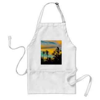 Tropical Scene at Sunset Time Standard Apron