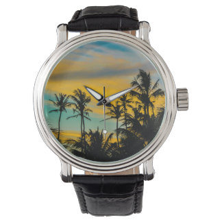 Tropical Scene at Sunset Time Watch