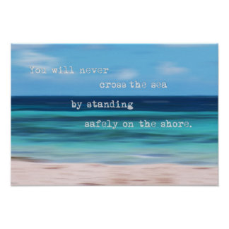 Tropical Sea Abstract Motivational Poster