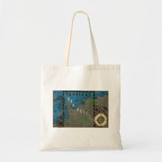 Tropical Sea Breeze Seahorse and Fish Tote Bag