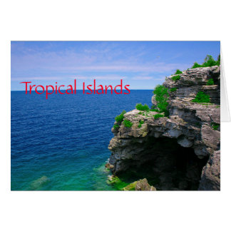 Tropical Sea Cave Card