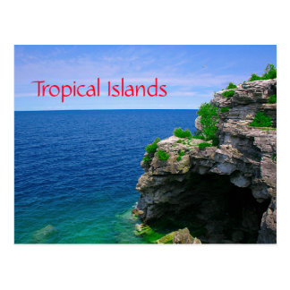 Tropical Sea Cave Postcard
