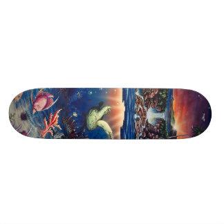 Tropical Sea Turtle Skateboard