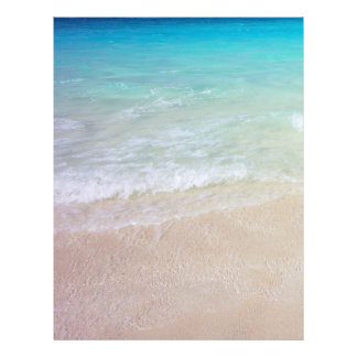 Tropical Sea Water and Beach Background Paper