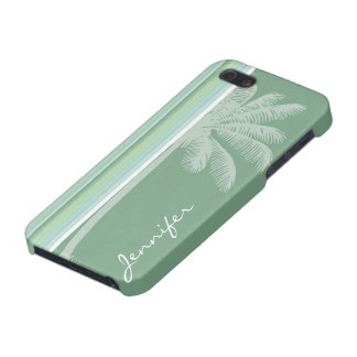Tropical Seafoam Sage Green Baby Blue Cover For iPhone 5