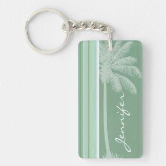 Tropical Seafoam, Sage Green, & Baby Blue Acrylic Keychain