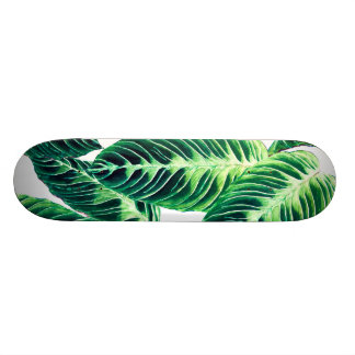 Tropical Seamless leaf pattern Skateboard Deck