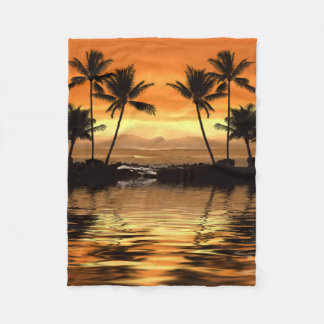Tropical Seascape Small Fleece Blanket