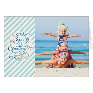 Tropical SEAson's Greetings, 4 Photos Card