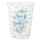 """Tropical """"SEAson's Greetings"""" Dotted Paper Cup"""
