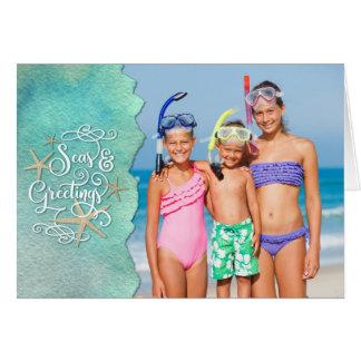 Tropical SEAson's Greetings, Watercolor Overlay Card