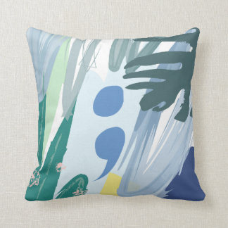 Tropical Semicolon Pillow