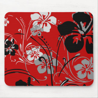 Tropical Serenade (Red) Mousepad