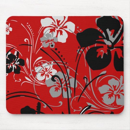 Tropical Serenade (Red) Mousepad