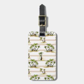 Tropical Shack And Palms Bag Tag