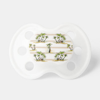 Tropical Shack And Palms Pacifier
