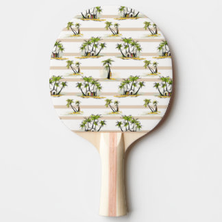 Tropical Shack And Palms Ping-Pong Paddle