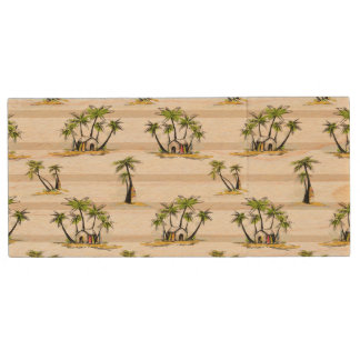 Tropical Shack And Palms Wood USB 2.0 Flash Drive