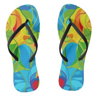 Tropical Shima Zori Flip Flops
