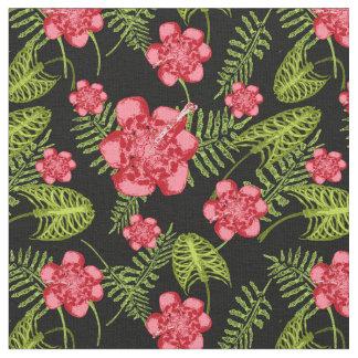 tropical skeleton fabric