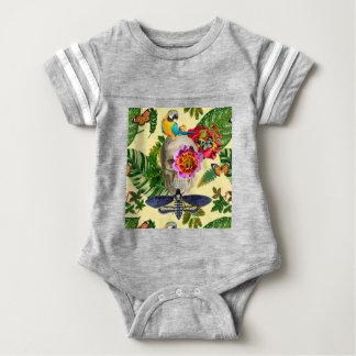 Tropical Skull Baby Bodysuit