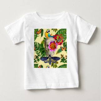 Tropical Skull Baby T-Shirt