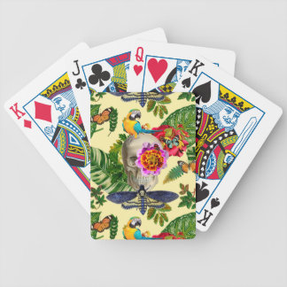 Tropical Skull Bicycle Playing Cards