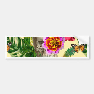 Tropical Skull Bumper Sticker