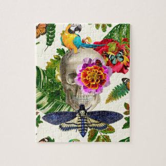 Tropical Skull Jigsaw Puzzle