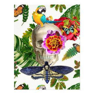 Tropical Skull Letterhead