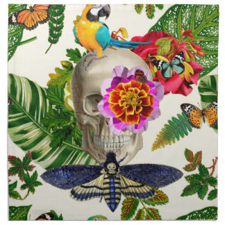 Tropical Skull Napkin