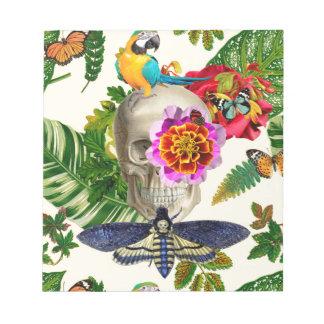 Tropical Skull Notepad