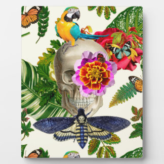 Tropical Skull Plaque