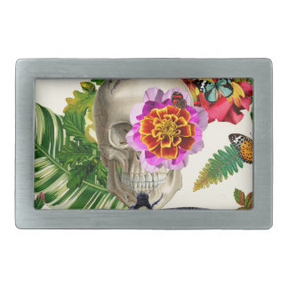 Tropical Skull Rectangular Belt Buckles